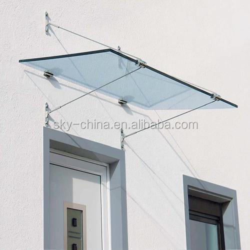 Inoxydable acier verre auvent couvert pour porte d 39 entr e - Abri pour porte d entree ...