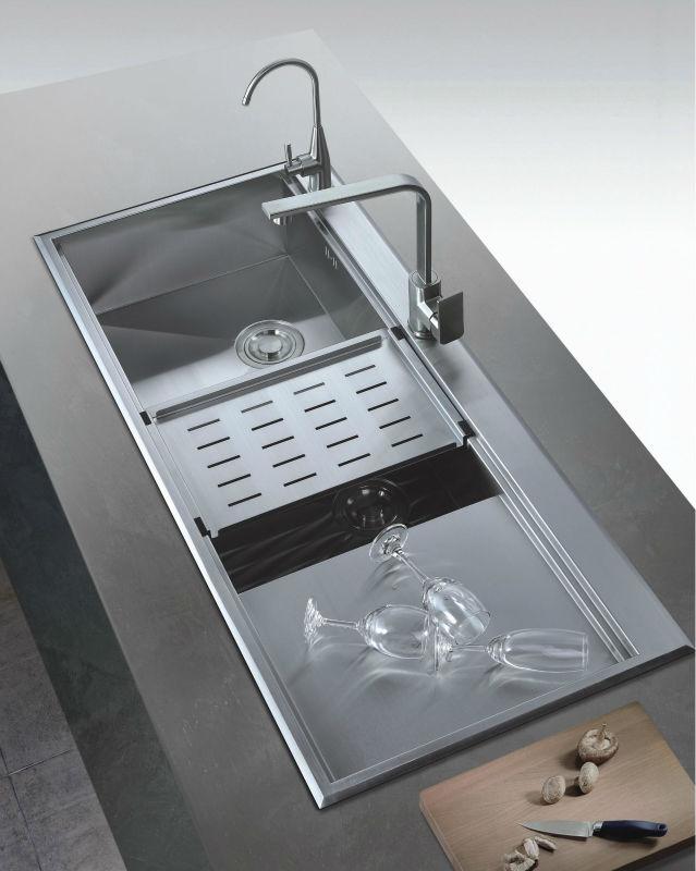 grande cuisine viers en acier inoxydable bol profond. Black Bedroom Furniture Sets. Home Design Ideas