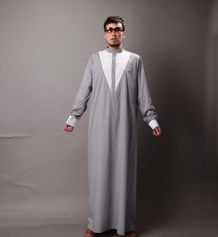 Arabe носить мужчины мусульманского абайю Исламской одежды плюс размер xxl Мужская thobe
