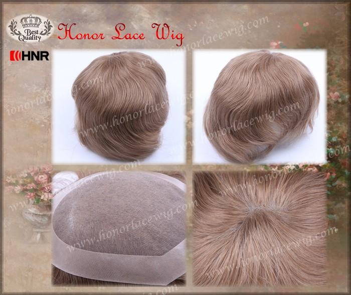 4 inches 965212 indian human hair NPU mens toupee9652 (1)