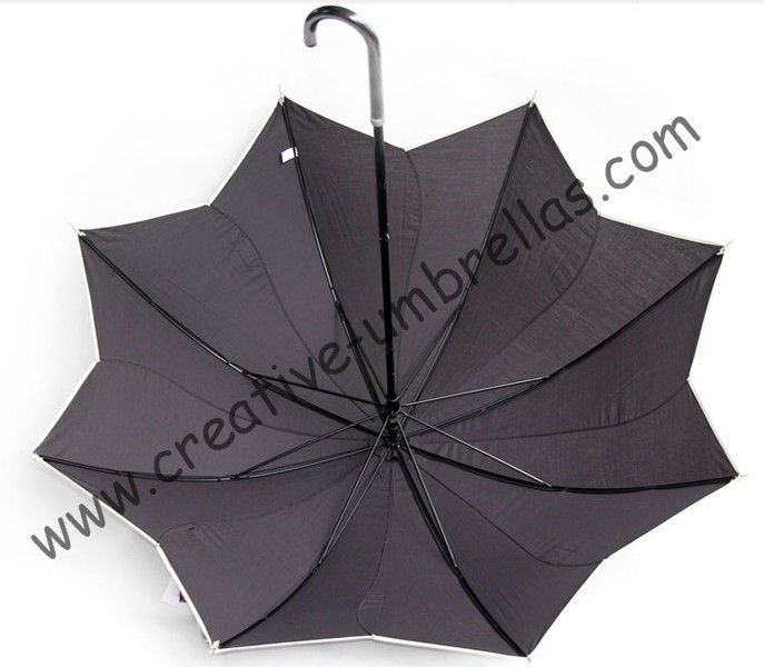 Lotus Leaf Umbrellas100sunscreenUPF50 210T Cottonlong Handle Parasolladies Parasolrotate Windmill Umbrellas