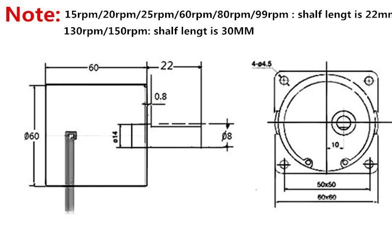 Двигатель переменного тока 60KTYZ AC 110V 20W 25 /gear ,