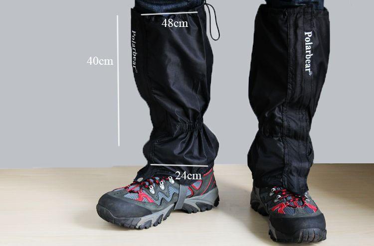 1 пара водонепроницаемый дышащий гетры лагеря поход снег леггинсы trek нордической ходьбой восхождение открытый обуви загрузки грязи ноги экипировку