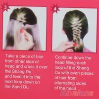 мода волос плетение Брайдер инструмент ролик с магия волос твист укладка пучок чайник 0oud