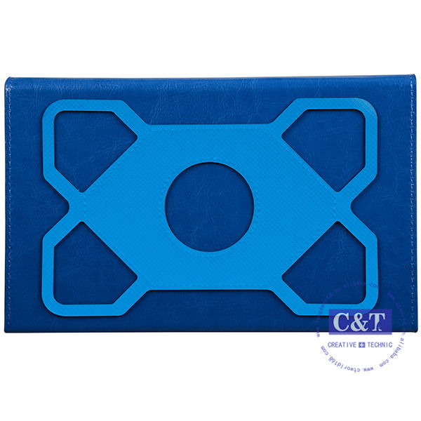 C&T 2014 New style protective PU back case for ipad smart cover