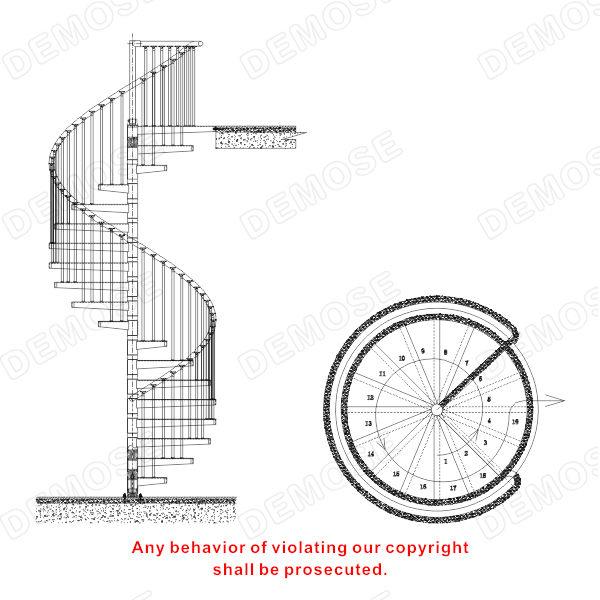- Dimensiones escalera de caracol ...