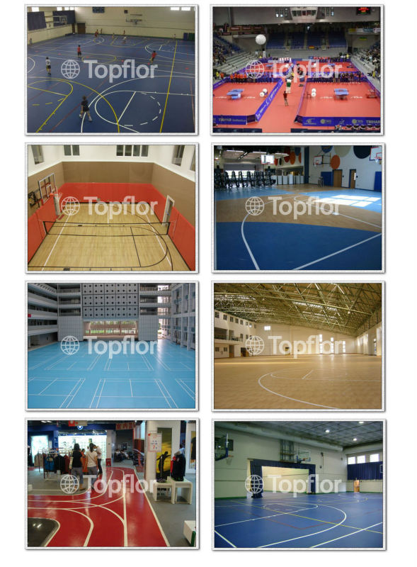 Portable athletic pvc vinyl basketball flooring for indoor use
