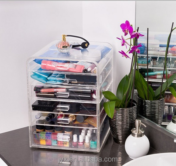 China Factory Acrylic Makeup Organizer With Drawers Wholesale