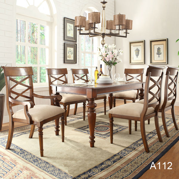 Wholesale antique style solid wood dining table set price  : HT1xilOFR0dXXagOFbXG from wholesaler.alibaba.com size 600 x 600 jpeg 103kB