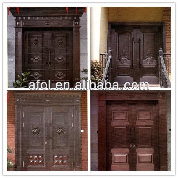 Zhejiang high quality copper luxury front door design for Quality door design