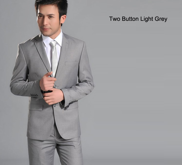 two button light grey