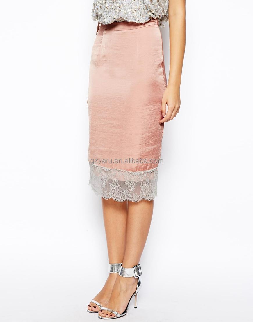 Отделка кружевами платья юбки