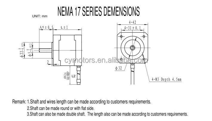 high precision hybrid step motor