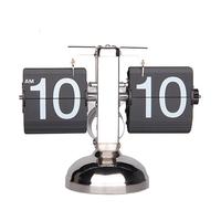 1шт ретро современные металлические масштаба цифровой автоматической флип один стенд стол настольные часы