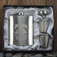 Плоская фляжка Skywolf 7 JIMBEAM ,  JIM 7OZ
