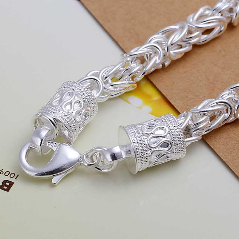 Серебряный браслет мужской купить в москве недорого