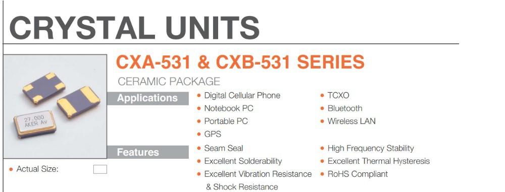 Акер cxa-531 серии smd кристалл 13 МГц 13m резонатор 13 МГц МГц 13.000 5032 5 * 3.2 5 мм * 3.2 мм 5 3.2