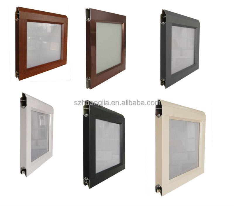 Metal Frame Window Panels : Glass panel aluminum frame waterproof garage doors buy