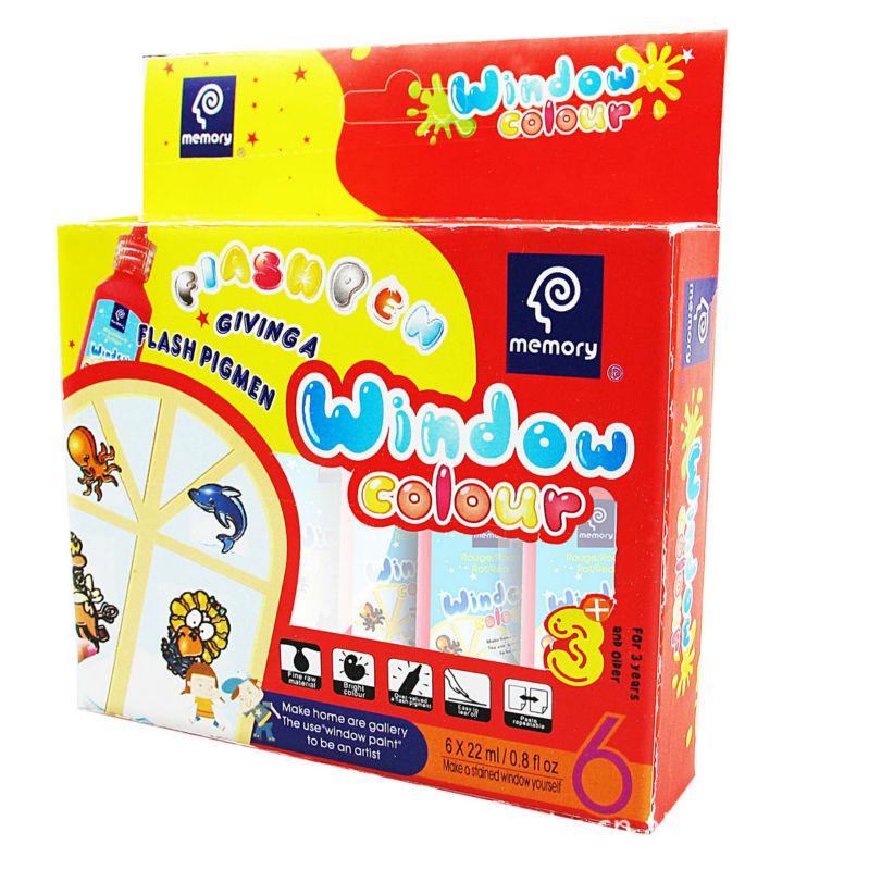 Memory Super quality window paint diy window paint set kids paint