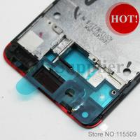 100% оригинал новый черный/белый/красный рама жилья замена смывного устройства для htc m7 и один