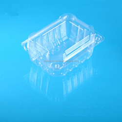wholesale square PET plastic ventilated fruit packing box with lid