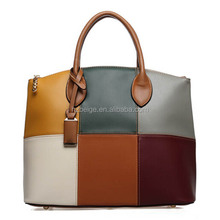 2015 Paris Fashion New Designing Handmade whole sheep leather unique lady bags in mixed color