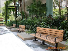 Discount hot sell recyclable material wpc garden bench