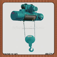 380 V KCD Electric Wire Rope Winch Hoist / Mini Electric Chain Hoist