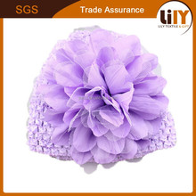 Top cheap Factory Direct Children Handmade Knitted Hats with Flowers