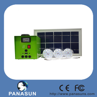 20w 30w portable solar energy light kit with 5w solar panel and rechargeble battery