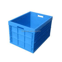 Large volume plastic storage container 180L foldable plastic transport box