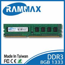 Taiwan DDR3 1333 8GB PC3-10600 lo-dimm memoria.memory ram Rammax cheap factory price