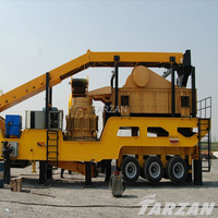 Large capacity mobile hydraulic crusher for aggregate producion plant
