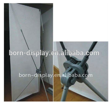 High Quality Strong Plastic Poles and Hooks Single Graphic PVC 60*160cm Gray X Banner with Lock
