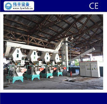 CE ring die wood pellet mill/wood pellet production line with automatic lubrication