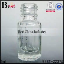 wholesale 6ml clear roll on perfume bottle for women, glass perfume bottles with screw cap neck, 6ml perfume bottle w logo print