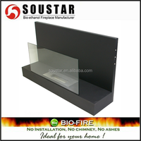 High Quality Black glass 220v electric fireplaces