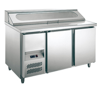 304 stainless steel kitchen salad and pizza fridge bar