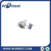 MR16 3W RGB Magic LED Bulb Lamp Light 16 Colors Changing +IR Remote Control Spot