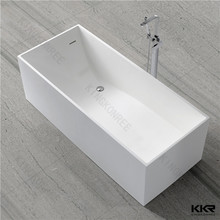 rectangle modified solid surface bathroom tub for hotel