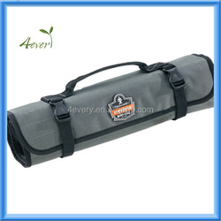 Portable Folding Roll Up Tool Bag 8 Pocket Green Polyester Spanner Plier Wrench Storage Tool Roll Pouch