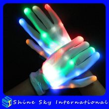 High Quality Hot Selling Festival Supplies Led Flashing Gloves