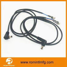 high quality led 3mm right angle dc cable