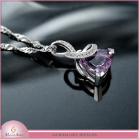 Wholesale pendant jewelry with beautiful big CZ Stone