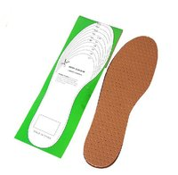 Comfortable shoe design massaging gel natural rubber leather insole officer leather shoes