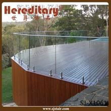 Frame less glass railing for porch /deck /balcony(SJ-X1066)