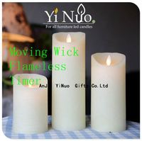 flameless candle with timer, showpieces for home decoration
