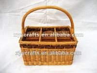 Wicker Wine Basket With Handle (factory supplier)