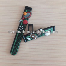 Green PVC basketball watch strap 14mm for cute boy