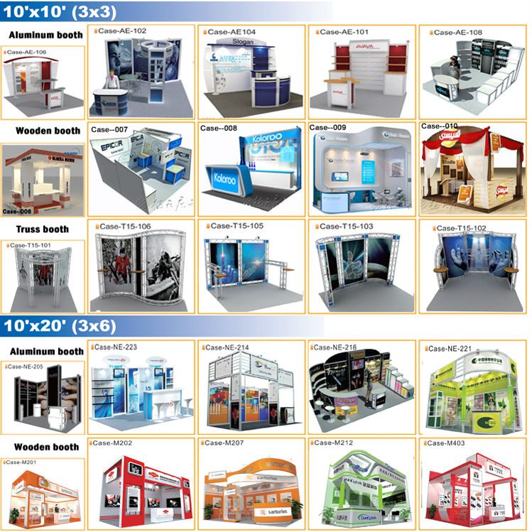 Demountable exhibition stall trade show stall exhibit stand for international fair from Shanghai China